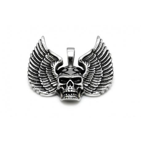 Flying skull pendant