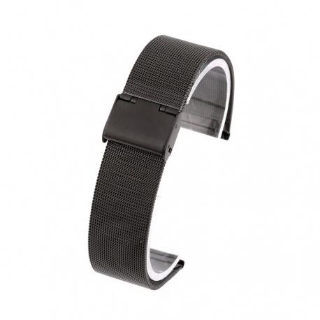 Klokkelenke sort mesh 22 mm