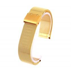 Watch bracelet gold mesh 18 mm