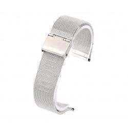 Watch bracelet silver mesh 18 mm