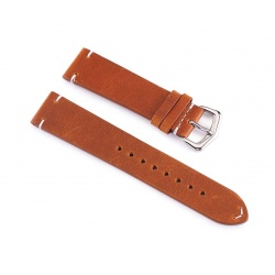 Brown watch leatherstrap 22 mm