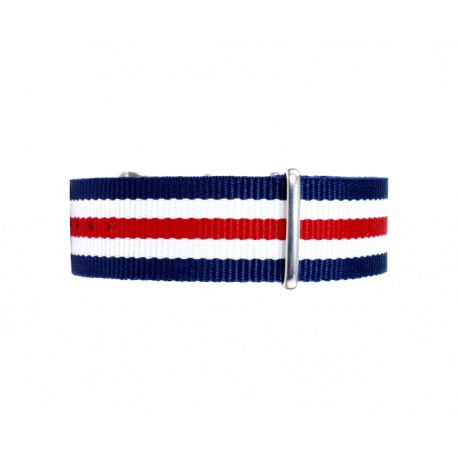 Nato watchstrap red white blue 20 mm