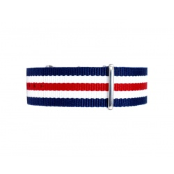 Nato watchstrap red white blue 22 mm