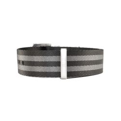 Natostrap black grey 22 mm