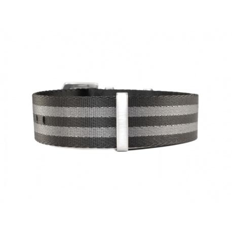 Natoreim sort grå 22 mm