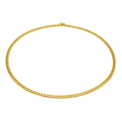 Golden steel necklace 4.5 mm