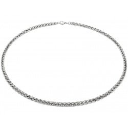 Braided stainless steel necklace 5 mm
