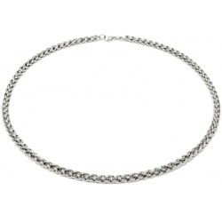Braided stainless steel necklace 6 mm