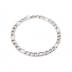 Figaro steel bracelet 6 mm