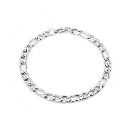 Figaro stålarmbånd 6 mm