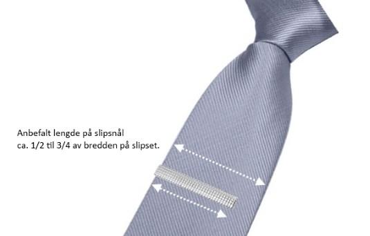 lengde på slipsnål