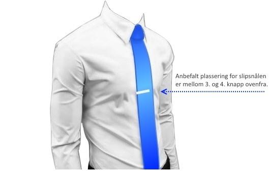 slipsnål plassering